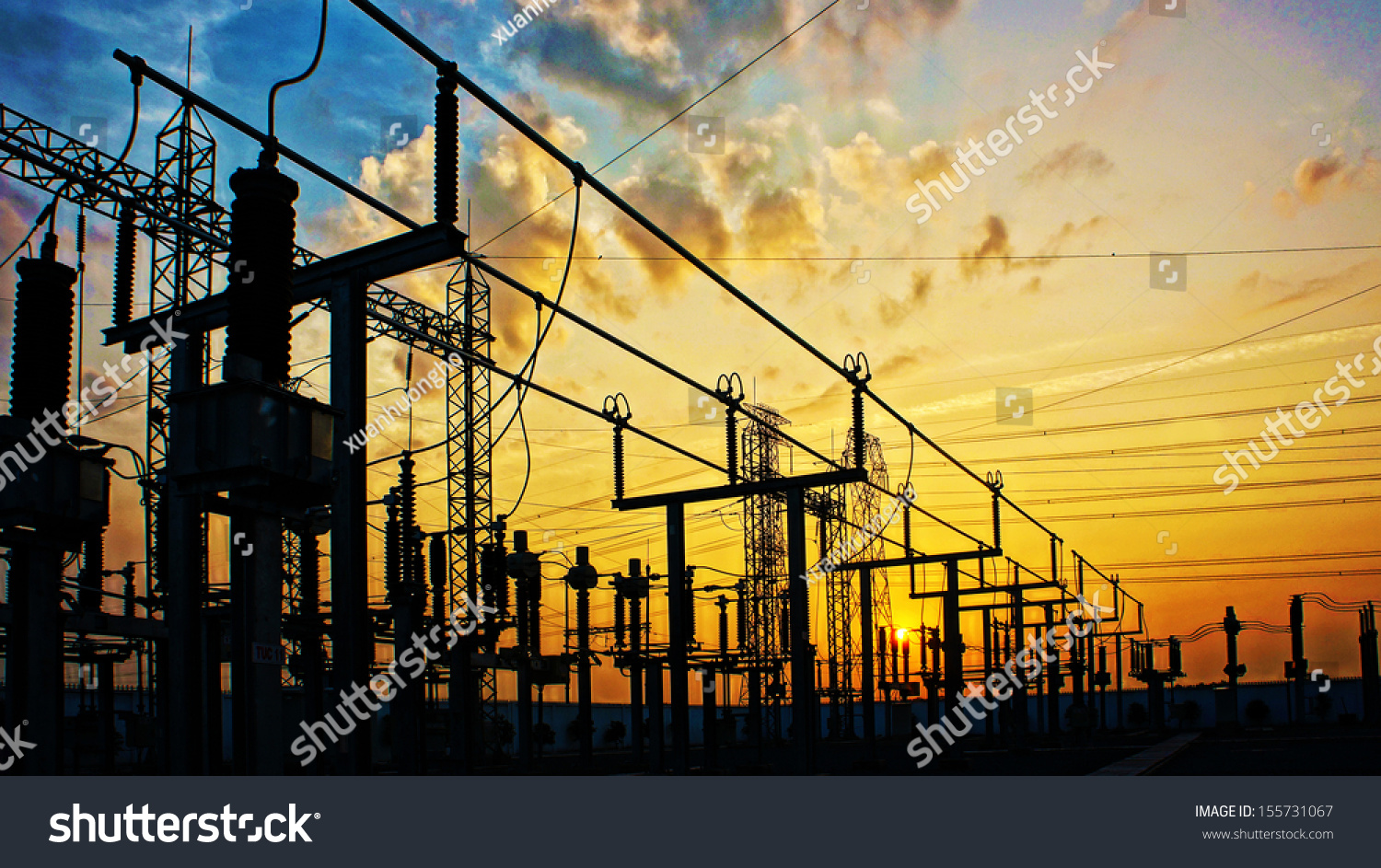 stock-photo-impression-network-at-transformer-station-in-sunrise-high-voltage-up-to-yellow-sky-take-with-155731067